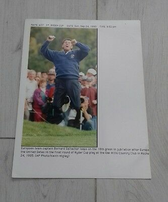 5) Bernard Gallagher  1995 ryder cup golf  press print photo