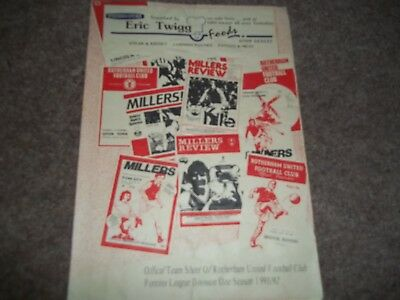 Rotherham United V Manchester United Reserves Pontins League 17Th March 1992
