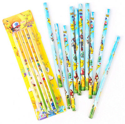 10pcs Pokemon Pocket Monsters Pikachu Pencils For Student Gift