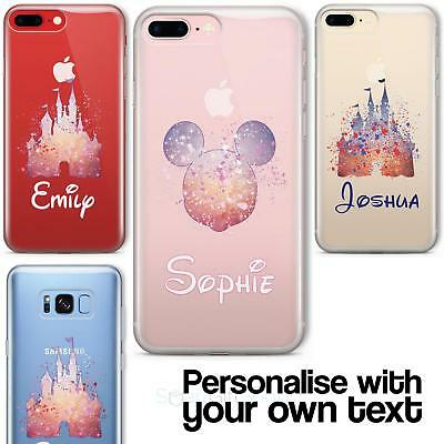 Cartoon Movie PERSONALISED CLEAR TPU Phone Cover Case for iPhone & Samsung Disne