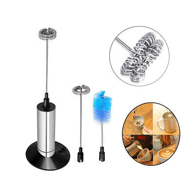 Portable Milk Frother Handheld Electric Coffee Mixer Battery Operated Egg Beater