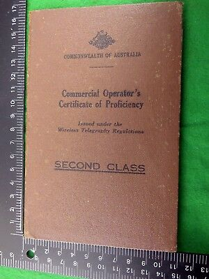 1940's Second Class Commercial (Radio) Operator's Certificate of Proficiency