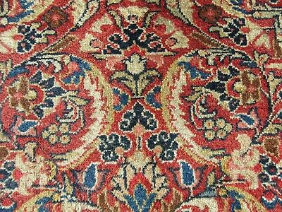 Fine & Rare Pattern Antique Country House Persian Mahal Rug  Circa 1920S