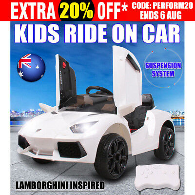 Electric Kids Ride on Car Lamborghini Inspired Children Toy Remote Battery 12V