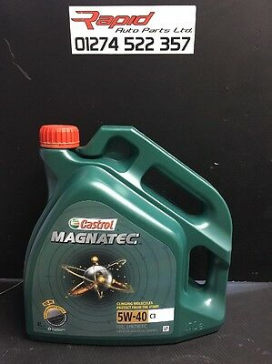 Castrol Magnatec 5W-40 C3 Fully Synthetic Engine Oil 5W40 8 Litres 8L NEW
