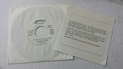 David Bowie  - Cat People  - 7 Vinyl Promo  Single with Info Sheet