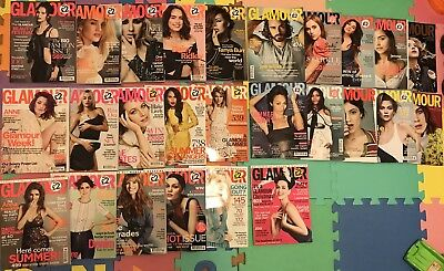 Job Lot Women's Glamour Magazines 26 Issues UK Edition