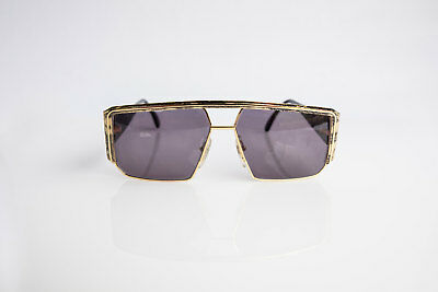 Ultra 7340 N Caviar Italy Unisex Vintage Sunglasses Gold NOS Deadstock