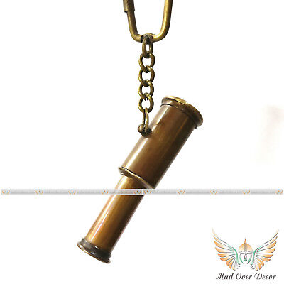 solid brass Antique 2 Fold telescope key Chain Collectible nautical Gift Item