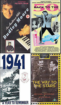 Joblot 4 VHS Video - 50s, Dudley Moore, Year to Remember 1941, Way to the Stars