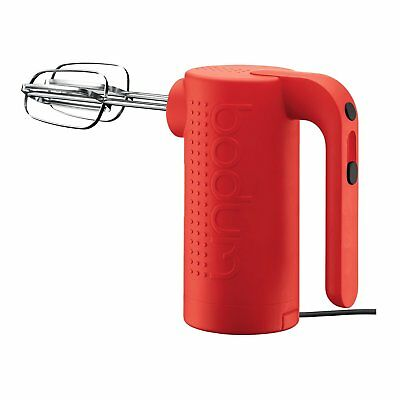 Bodum Bistro 5 Speed Settings Stainless Steel 200 W Hand Mixer - Red 11520­294UK