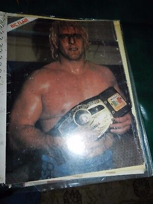 PHOTO ALBUM FULL OF WRESTLING PICTURES 1980's ANDERSONS , RICKY MORTON,FLAIR,