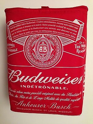 Budweiser The World Renowned Limited Edition Insulated Backpack Cooler Red/White