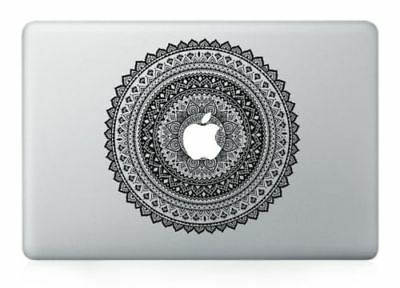 "Vintage Flower Apple Macbook Air/Pro 13"" Vinyl Sticker Skin Decal Cover"