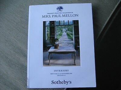 Auction catalog: Property from the collection of Mrs. Paul Mellon: Interiors Ses