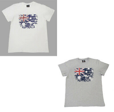 Men Women Unisex Souvenir T-shirt 100% Cotton Australia Australian Flag Top Tee