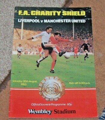 Fa Charity Shield Programme 1983 Liverpool V Manchester United