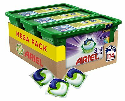 Ariel 3-in-1 Pods Colour and Style Washing Capsules Pack of 3 114 Washes New
