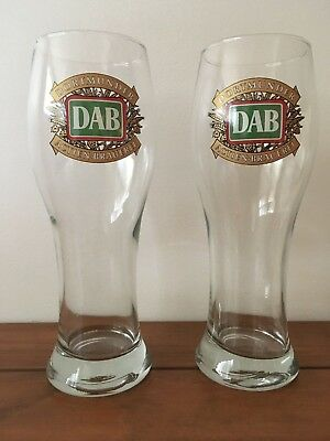 Set of 2 DAB Dortmunder Actien-Brauerei Tall Beer Glasses