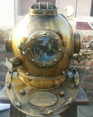 Antique Scuba SCA Divers Diving+Helmet US Navy Mark V Deep Sea Marine Diversbid.