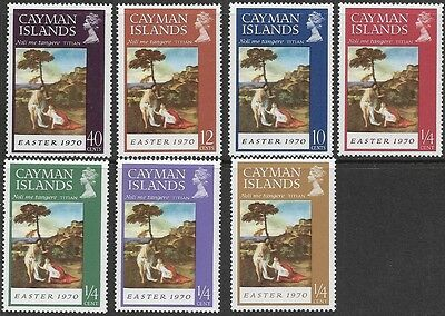 CAYMAN Islands ~ 1970 • QEII Easter, Paintings «MNH» sg#262/268