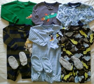 Boys 3T Footed Pajamas Fall Winter clothes lot!