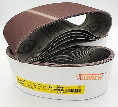Sanding Belts 100 x 610mm KLINGSPOR 4'' x 24'' Belt Sanders MAKITA / BOSCH etc.