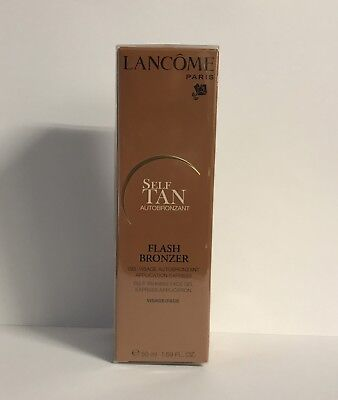 Lancome Flash Bronzer Self Tanning Face Gel 50ml Full Size NEW IN BOX SEALED
