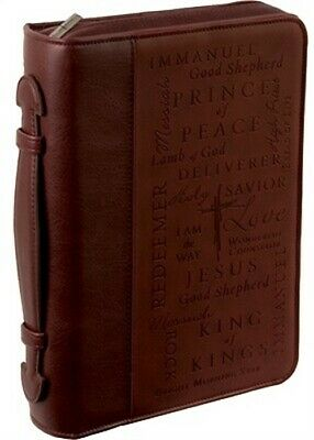 Names of Jesus Leather Large Two-Tone Bible Cover