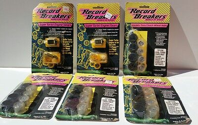 6 Vintage HASBRO WORLD OF SPEED Super Turbo Engine & Knobbly Tyres & Clutch Hubs