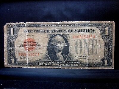 1928 $1 United States Note ✪ Ag About Good ✪ Legal Tender Us 312 ◢Trusted◣