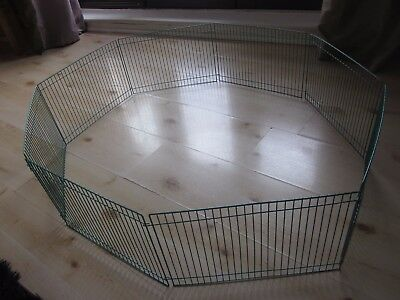 Small folding pet (hamsters) play pen metal fence