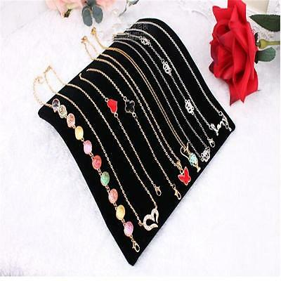 Velvet Necklace Chain Pendant Display Jewelry Organizer Stand Holder YF