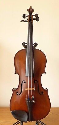 "FINE OLD SCOTTISH HUTTON GLASGOW VIOLIN 4/4  lob 14 1/16 "" + CASE  - cello viola"