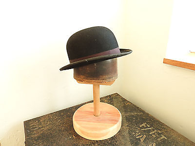 Vintage Gentlemen's Black Bowler Hat By Lock & Co London Size 56 Medium (4557