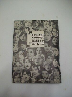 The New Art of Society MAKE-UP by Max Factor Booklet, Movie Stars, 1929