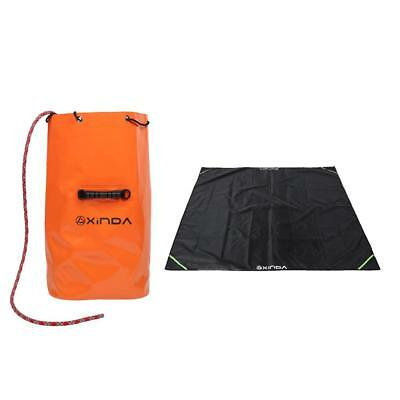 25L PVC Rock Climbing Caving Rope Bag Bucket Gear Backpack with Ground Sheet