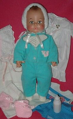 So Cute! Vintage Eegee SOFTINA BABY DOLL and 8 Extras!