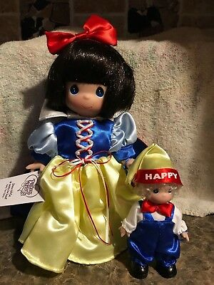 New Snow White And Happy Dwarf Baby Precious Moments Fairy Tale Series Doll Set