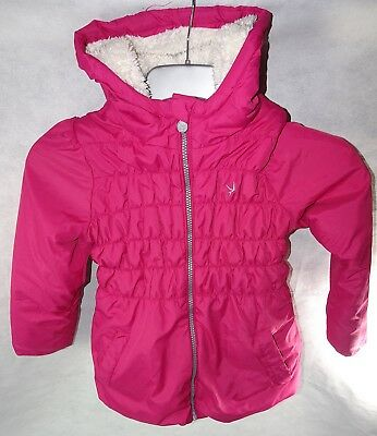 Girls Young Dimension Pink Fleece Lined Hooded Jacket Zip up 6 - 7 Years 122cm