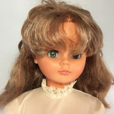 """Regal Toy Canada Child Doll 301T 30"""" Tall Walker Plastic Sleepy Eyes Rooted Hair"""