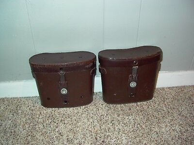 2) NOS ( New Old Stock) LEATHER MILITARY BINOCULAR CASES in excellent condition