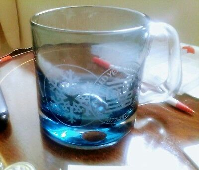 Wedgewood Blue Glass Tankard Commemorating 100 Years Of Refrigeration 1877-1977.