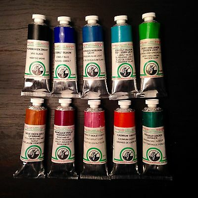Brand New Lot Of 10 Old Holland Oil Paint Tubes *high Series* *free Shipping*