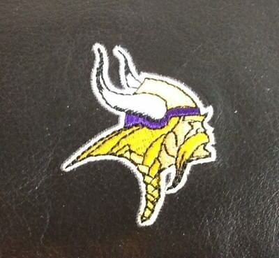 NFL Minnesota Vikings Black Leather Checkbook Officially Licensed Embroidered