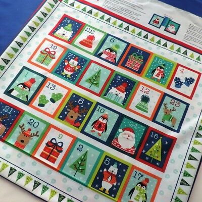 Christmas Novelty Advent Calendar Cute Characters in Knitwear by Makower