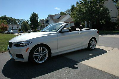 2016 BMW 2-Series 228i 2016 BMW 228i X-Drive Convertible 1,854 Miles White w/ Brown Leather interior