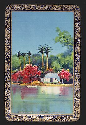 1 Single VINTAGE Swap/Playing Card EN SCENE 'LIGHT & SHADOWS BERMUDA LI-3-1-A'