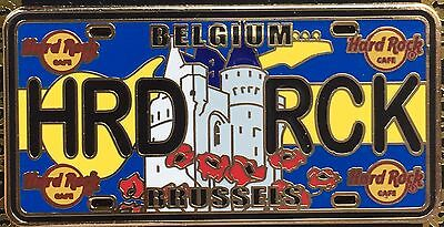 Hard Rock Cafe Brussels License Plate CORE Pin NEW