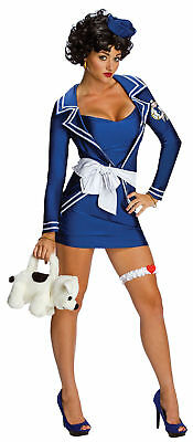 Betty Boop Costume Sexy Pin Up Sailor Girl Adult Halloween Fancy Dress XS, S, M